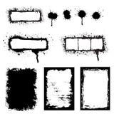 Grunge splattered l'insieme del blocco per grafici Fotografia Stock Libera da Diritti