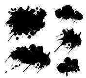 Grunge splatters ustawiający Zdjęcia Royalty Free