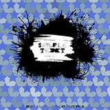Grunge splodge card. Abstract backdrop design with blots. Royalty Free Stock Image