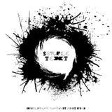 Grunge splodge karta Abstrakcjonistyczny tło projekt z kleksami Zdjęcia Royalty Free