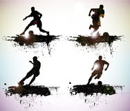 Sport silhouettes. Grunge sport silhouettes vector illustration royalty free illustration