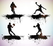 Sport silhouettes. Grunge sport silhouettes vector illustration Royalty Free Stock Images