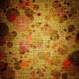 Grunge spots on canvas Stock Photography