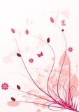 Grunge spring floral design Royalty Free Stock Image