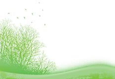 Grunge spring landscape Royalty Free Stock Image