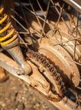 Grunge sprocket. Dirty sprocket of motorcycle Royalty Free Stock Images