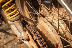 Grunge sprocket. Dirty sprocket of motorcycle Stock Images