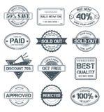 grunge sprzedawania znaczki royalty ilustracja