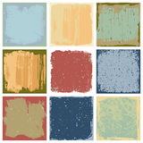 Grunge Square Backgrounds Vector Stock Image