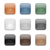 Grunge square buttons Royalty Free Stock Image