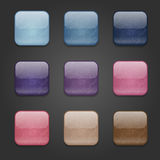 Grunge square buttons Royalty Free Stock Photos