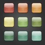 Grunge square buttons Stock Photo