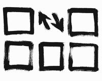 Grunge Square Frames Stock Image