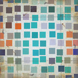 Grunge squares abstract pattern Stock Images