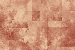 Grunge squares paper texture. Red and brown background with grunge decorative pattern Royalty Free Stock Images