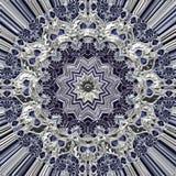 Grunge srebra ornament Obrazy Stock