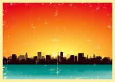 Grunge städtische Landschaft Lizenzfreies Stockbild