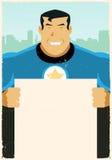 Grunge städtisches Superheld-Anzeigen-Zeichen Stockfotos