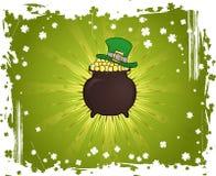 Grunge St. Patrick's Day Background stock illustration