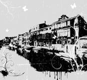 Grunge Stadt backround lizenzfreie abbildung