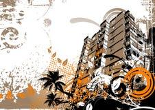 Grunge Stadt-Elemente Lizenzfreies Stockfoto