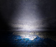 Grunge Stage Blue Background Royalty Free Stock Images