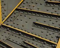 Grunge Stahl und Niete Stockfoto