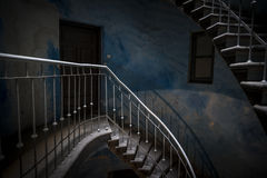 Grunge stairs in abandoned building Royalty Free Stock Images