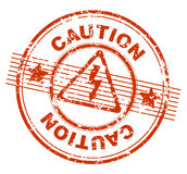 Grunge stamp CAUTION Royalty Free Stock Photos
