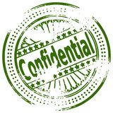 Grunge stamp CONFIDENTIAL Royalty Free Stock Photos