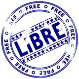 Grunge stamp FREE - French Royalty Free Stock Image