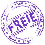 Grunge stamp FREE - German Royalty Free Stock Photos