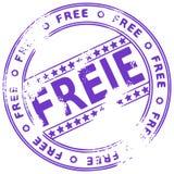 Grunge round rubber stamp FREIE - German Royalty Free Stock Photos