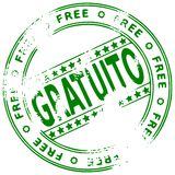Grunge round rubber stamp GRATUITO - Spanish royalty free stock photos