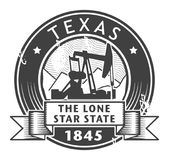 Grunge stamp or label with name of Texas. Vector illustration Stock Images