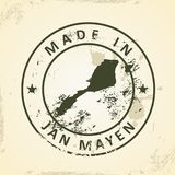Stamp with map of Jan Mayen. Grunge stamp with map of Jan Mayen - vector illustration stock illustration