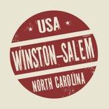 Grunge stamp with text Winston - Salem, North Carolina. Grunge vintage round stamp with text Winston - Salem, North Carolina, vector illustration Stock Photos