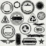 Grunge stamps Stock Photography
