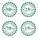 Grunge stamps for cristmas sales Royalty Free Stock Photo