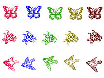 Grunge Stamps - Insects Stock Photography