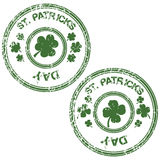 Grunge stamps for St. Patrick's Day Royalty Free Stock Photo