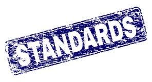 Grunge STANDARDS Framed Rounded Rectangle Stamp vector illustration