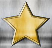Grunge star. On a metal background royalty free illustration