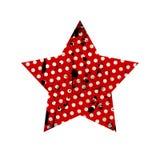 Grunge star. Dotted grunge star on white background vector illustration