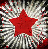 Grunge star. With abstract stains vector illustration