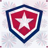 Grunge Star America Background Independent Day Stock Images