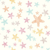 Grunge star background. Seamless pattern. Colorful party texture. Royalty Free Stock Photo