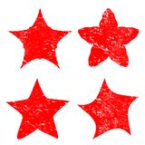 Grunge star background textures set vector illustration