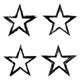 Grunge star background textures set royalty free illustration