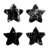 Grunge star background textures set Royalty Free Stock Photography